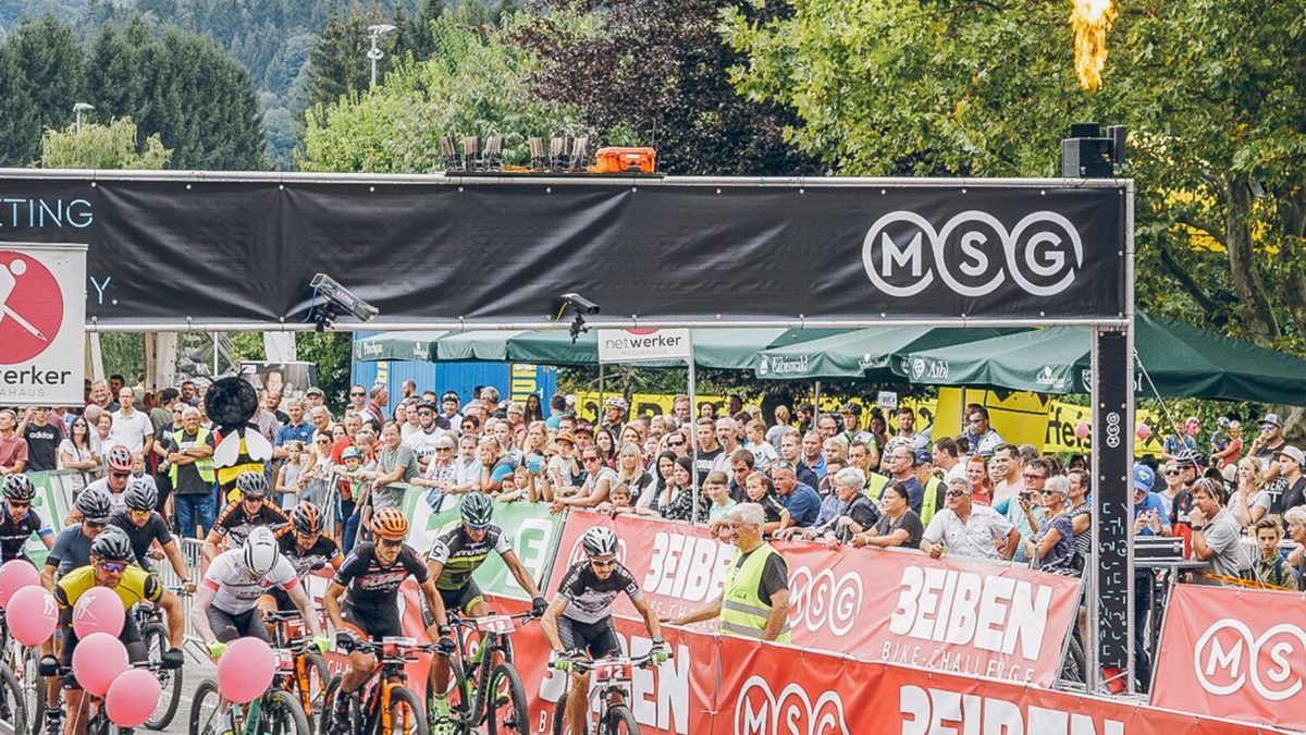 Start/Ziel Bereich der MSG 3Eiben Bike-Challenge