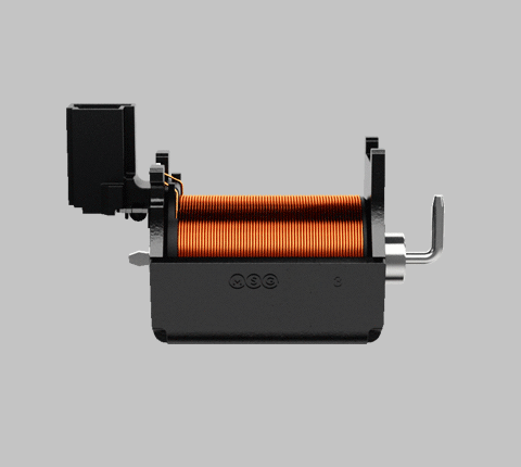 Side-on view of a linear shift actuator